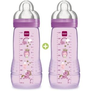 Bib Mam E Active 330mlx2 Rose