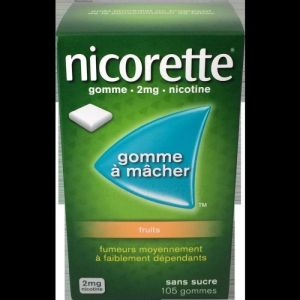 Nicorette 2mg Gomme Fruits S/s