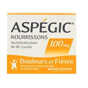 Aspegic 100mg Nourrisson Sache
